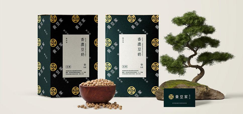 黄豆家香浓豆奶品牌包装设计