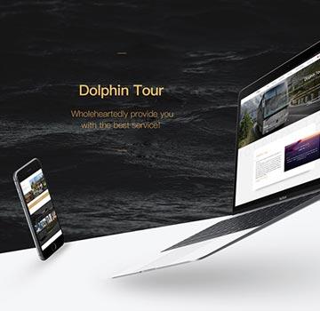 海豚车行双语网站建设